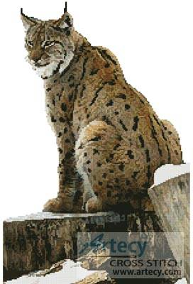 cross stitch pattern Lynx