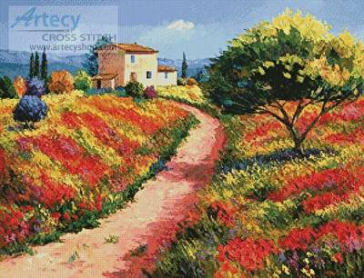 cross stitch pattern Provencal House