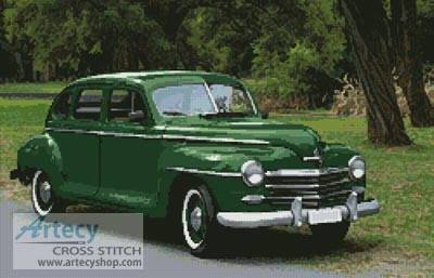 cross stitch pattern Old Green Car