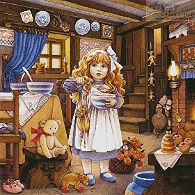 cross stitch pattern Goldilocks