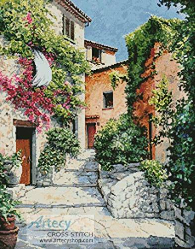 cross stitch pattern In the Alpes-Maritimes Provence