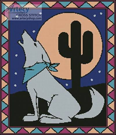 cross stitch pattern Southwest Coyote