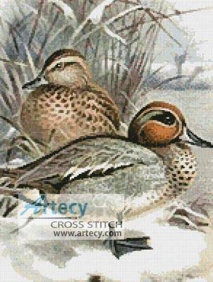 cross stitch pattern Ducks 3
