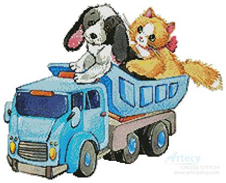 cross stitch pattern Pet Playtime