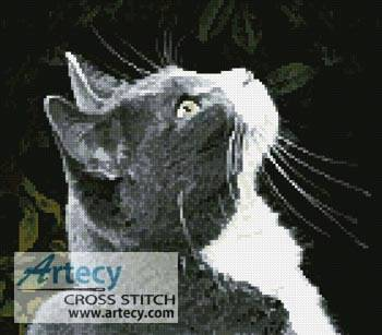 cross stitch pattern Lucky the Cat