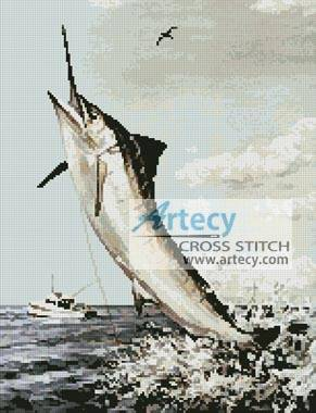 cross stitch pattern Marlin