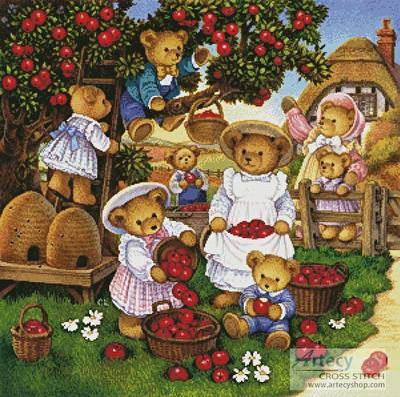 cross stitch pattern Apple Harvest