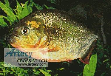 cross stitch pattern Piranha