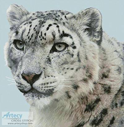 cross stitch pattern Snow Leopard Photo