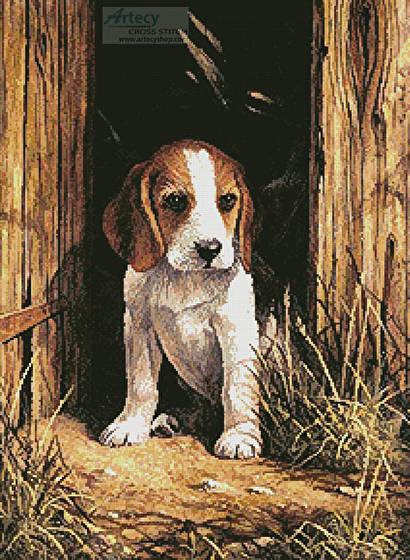 Beagle Puppy Cross Stitch Pattern dogs
