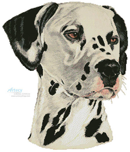 cross stitch pattern Dalmatian Painting