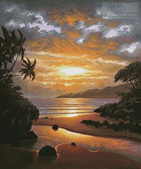 cross stitch pattern Memories of the Sunset