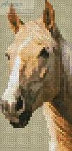 cross stitch pattern Palomino Horse Bookmark