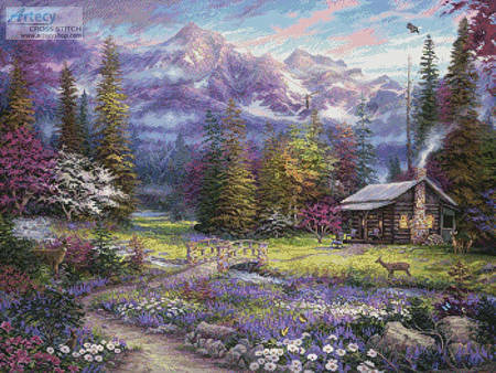 cross stitch pattern Inspiration of Spring Meadows