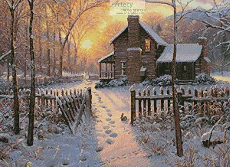 cross stitch pattern Welcome Winter