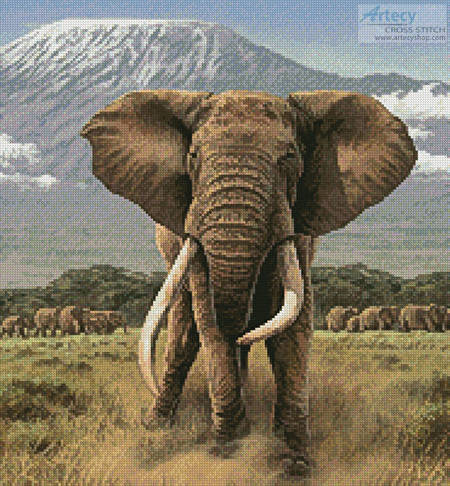 cross stitch pattern African Giants (Crop)