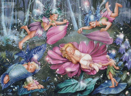 cross stitch pattern Evening Fairies (Large)