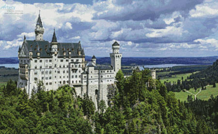 cross stitch pattern Neuschwanstein Castle 2