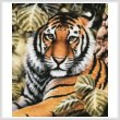 cross stitch pattern Jungle Tiger (Crop)