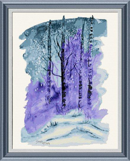Winter Cross Stitch Pattern Snow
