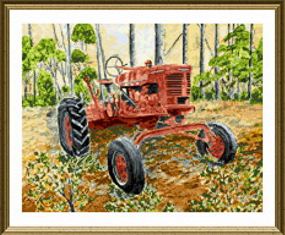 cross stitch pattern Old Tractor