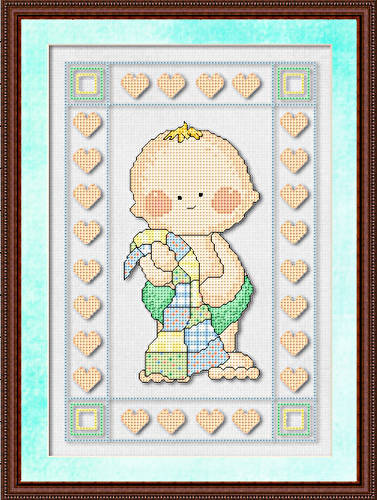 cross stitch patterns for baby blankets Categories