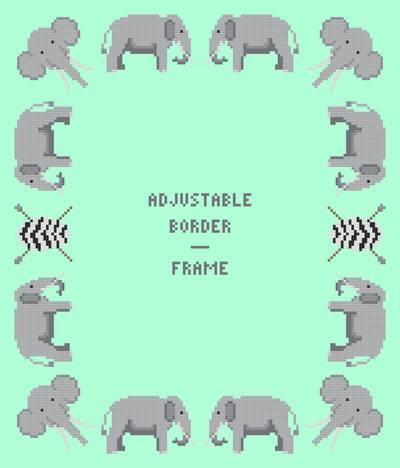 elephant borderframe adjustable - Elephant Picture Frame