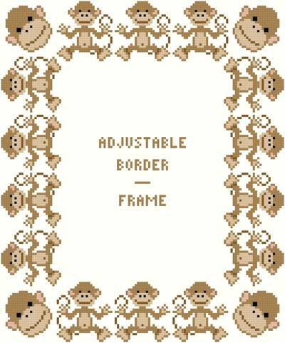 monkey borderframe adjustable - Monkey Picture Frame