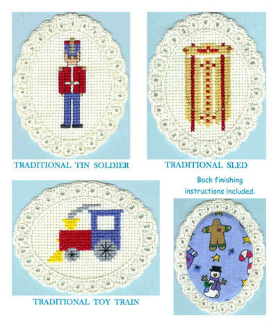 cross stitch pattern Traditional Christmas Toys