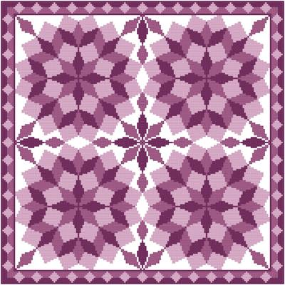 Quilt Patterns Cross Stitch : Jumbled Tumbling Blocks Cross Stitch Pattern quilts