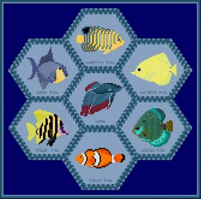 fish quilt pattern | eBay