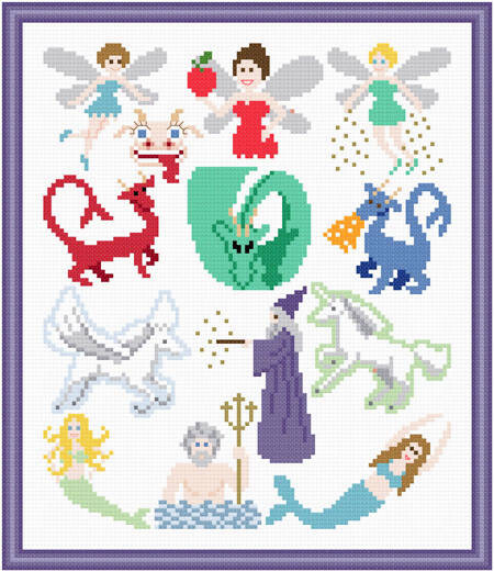 Fantasy Images Cross Stitch Pattern Whimsy
