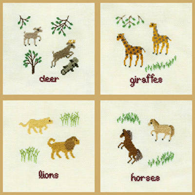 cross stitch pattern Two by Two They Came - Group 1