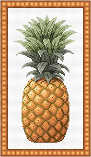 pineapple cross stitch pattern fruit