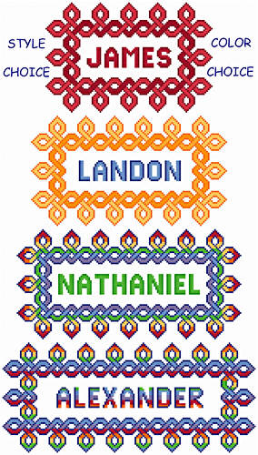 cross stitch pattern Celtic Adjustable Nameplates - Bold
