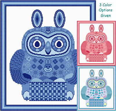 cross stitch pattern Easter Owl