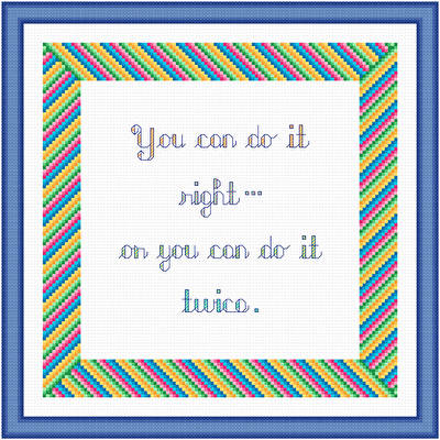 cross stitch pattern Right or Twice
