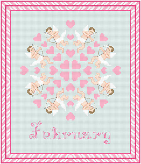 cross stitch pattern February - My Valentine