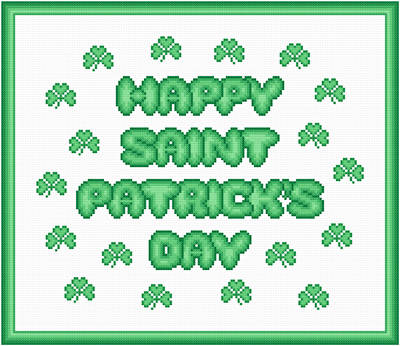 cross stitch pattern St. Patrick's Day