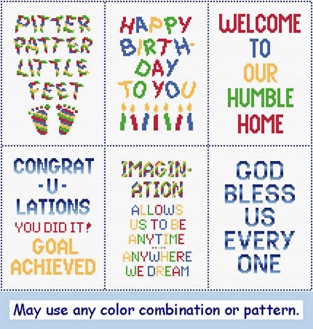 cross stitch pattern 5 x 7 Insert Assortment