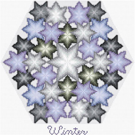 cross stitch pattern Kaleidoscope of Seasons - Winter