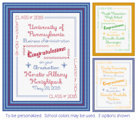 cross stitch pattern Graduation Congratulations