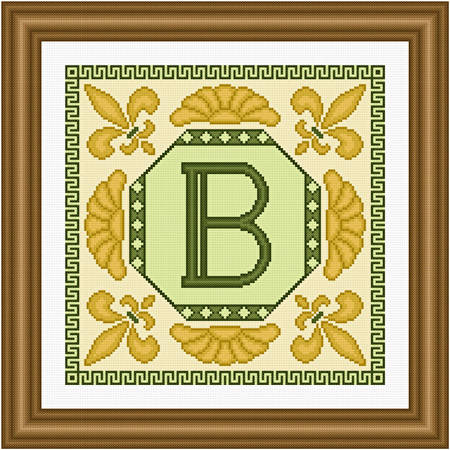 cross stitch pattern Classic Monogram - B