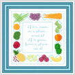 cross stitch pattern What to Eat   -  or  -  Kitchen Border