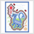 cross stitch pattern Spring Dragon Baby Announcement