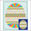 new cross stitch pattern - Easter Egg Design # 1 - Vivid