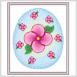 cross stitch pattern Easter Egg Design #3 - Flowers