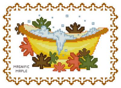 Maple Leaf Cross Stitch Pattern Maple Cross Stitch