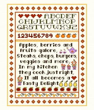 Kitchen Sampler Cross Sch Pattern