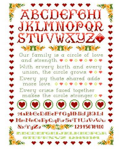 family circle cross stitch patterns